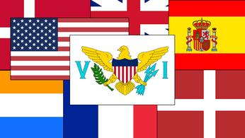 US Virgin Islands State Flag University of Virgin Islands  American Mens Shirts