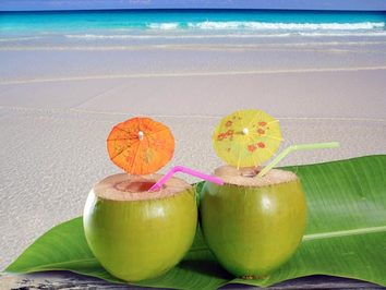 green coconut water