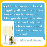 honeymoon registry testimonial