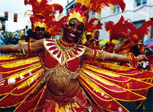 Carnival lady in costume