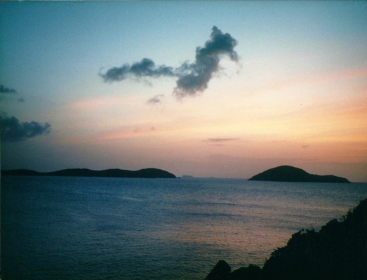 sunset view Picara Pearl Magens Bay St Thomas US Virgin Islands